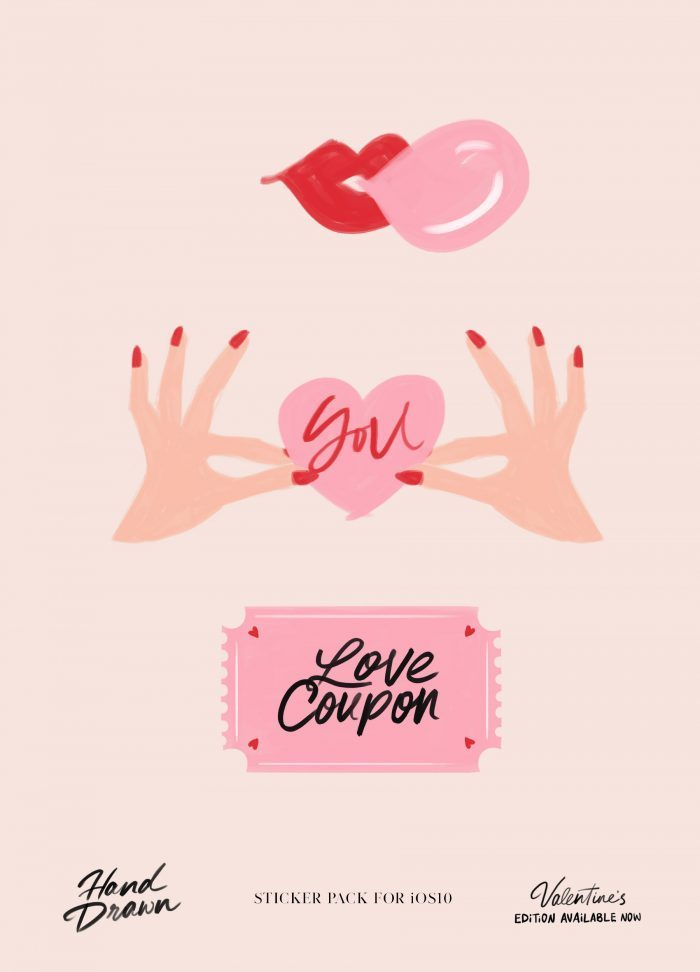 'Love coupon, ticket to lovebirds' by Corina Nika