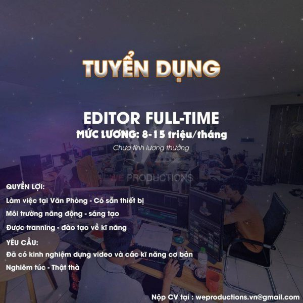weproductions tuyển dụng